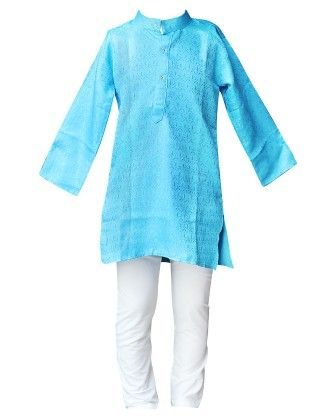 Kurta And Pyjama Set - Blue - BownBee