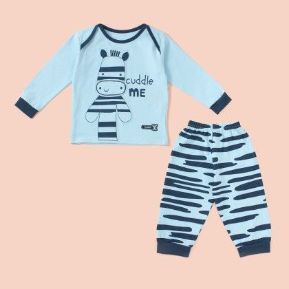 Cuddle Me Printed Pyjama Set - Blue - Mini Taurus
