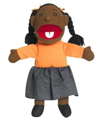 Ethnic Children Puppets - Girl - Dark Tone - The Children's Factory