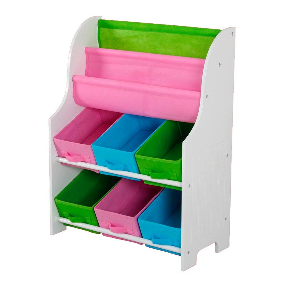 Kids Book Holder With 6 Bins - HDS