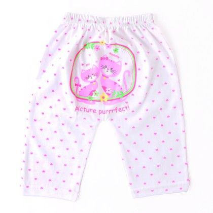 Cat With Heart Printed Legging - Pink - Naturelle