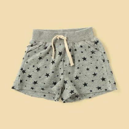 Grey Printed Shorts - Lil Mantra