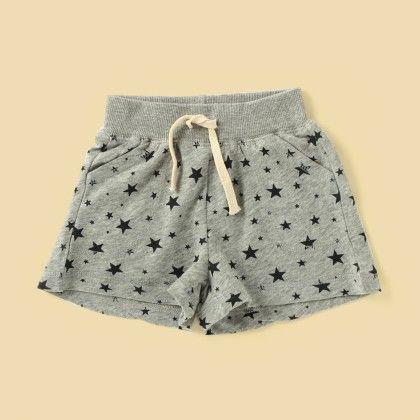 Grey Printed Shorts - Lil Mantra