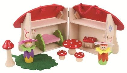 Mini Mushroom House Playset - Big Jig Toys