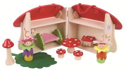 Mini Mushroom House Playset - Big Jig Toys