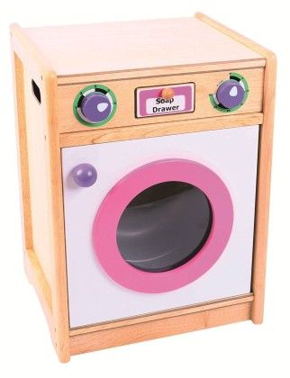 Pink And Green Kitchen Washing Machine - Big Jig Toys
