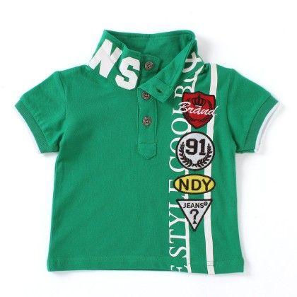 Noddy Green White Polo Neck T-shirt