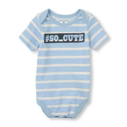 Long Sleeve '#so_cute' Little Talker Bodysuit - The Children's Place
