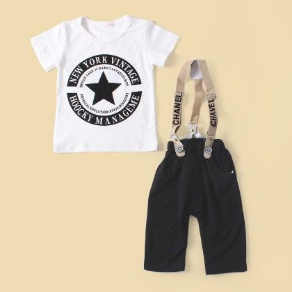 T-shirt With Suspender Shorts - Lil Mantra
