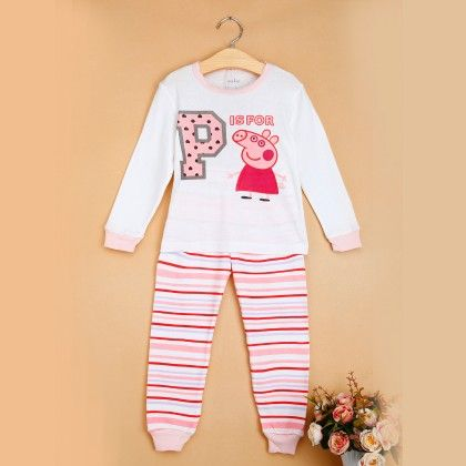 Peppa Pig Pink-white Pyjama Set