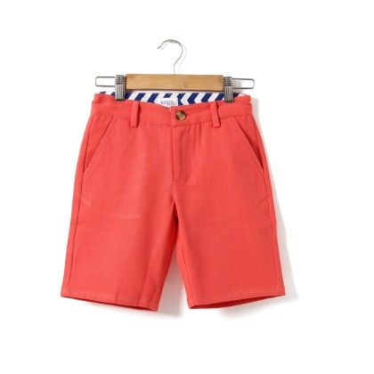 Flat Front Boys Shorts - Azure