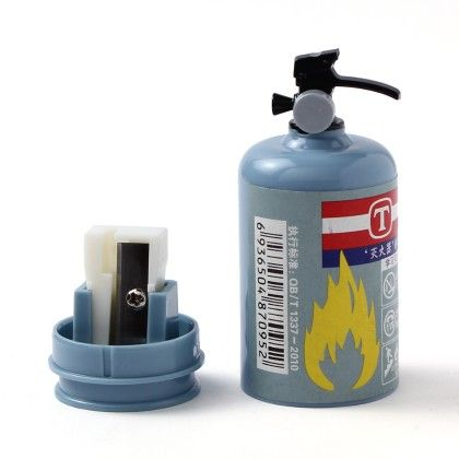 Fire Extinguisher Sharpener - Blue - Happy Gifts