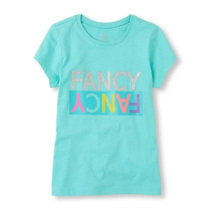 Short Sleeve 'fancy Fancy' Glitter Graphic Tee - The Children's Place