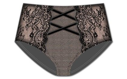 All Cinched Up Brief-black - Rene Rofe