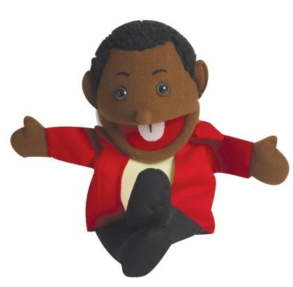 Ethnic Children Puppets - Boy - Dark Tone - The Children's Factory