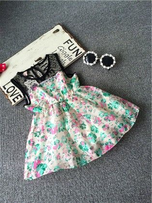 Multi Floral Print Dress - Emma