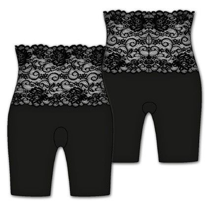 Fascination Lace Bikeshort-black - Rene Rofe