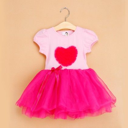 Rose Red Love Print Tutu Dress - The Aria Collection