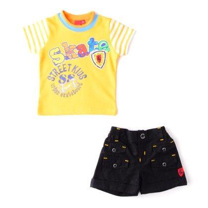Boys 2 Pc Set Yellow/black - Mickey