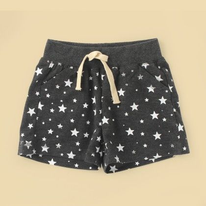 Blue Printed Shorts - Lil Mantra
