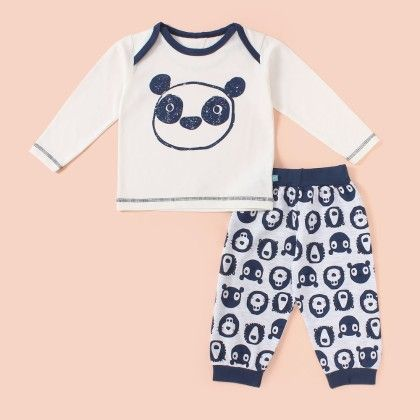 Bear Printed Pyjama Set - Navy - Mini Taurus