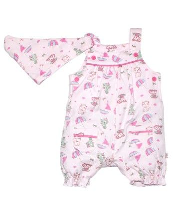 Pink Romper With Scarf - FS Mini Klub