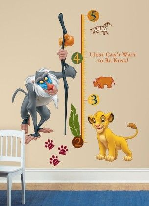 The Lion King Rafiki Peel & Stick Giant Growth Chart - Disney Wall Decals