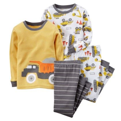 4-piece Snug Fit Cotton Pjs - Yellow - Carter's