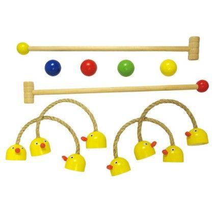 Duck Croquet Set - Packaged In Net Bag - Sassafras