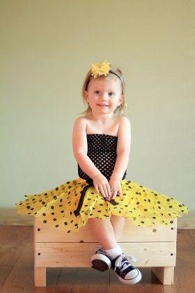 Black & Yellow Polka Dotted Tutu Set - Dress Up Dreams