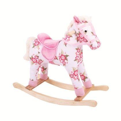 Floral Rocking Horse - Big Jig Toys