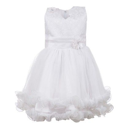 White Angel Birthday Party Dress-silver And White - BownBee