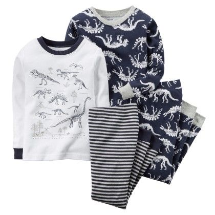 4-piece Snug Fit Cotton Pjs - Dino Print - Carter's