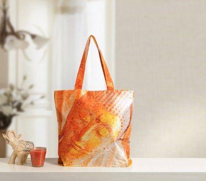 Digital Printed Pure Delight Fashion Shopping Bag - Multi - Swayam