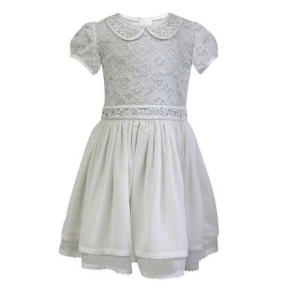 The Cranberry Club White Lace Dress With Embroidery Dress