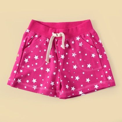 Pink Printed Shorts - Lil Mantra