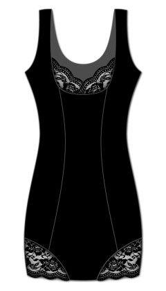 Lacey Accent Slip-black - Rene Rofe