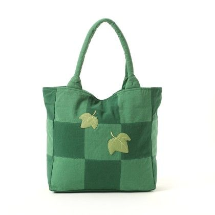 Oyster Kids Hand Bag In Green With Leaves Design - Oysterkids
