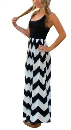 Colorful Sleeveless Wave Striped Full Length Summer Bohemia Beach Dress - Black - KUFV