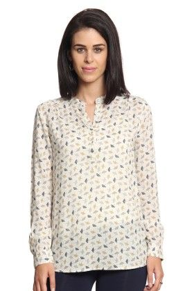 Women Beige Printed Top-1 - Cotton World