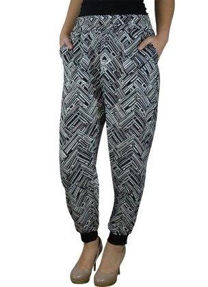 Abstract Printed Harem Pants - Alfa Global