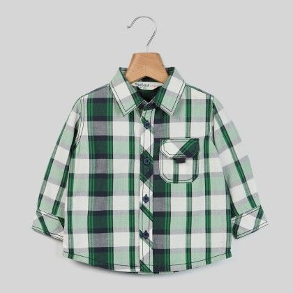 White/green Check Shirt Green Check - Infant - Beebay
