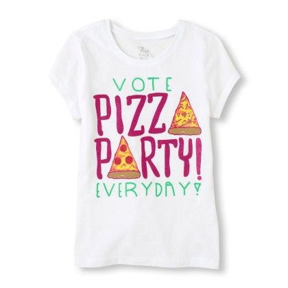 Short Sleeve 'vote Pizza Party Every Day' Graphic Tee - The Children's Place