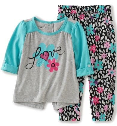 2 Piece Love Top And Jogger  Set - Kids Headquarters