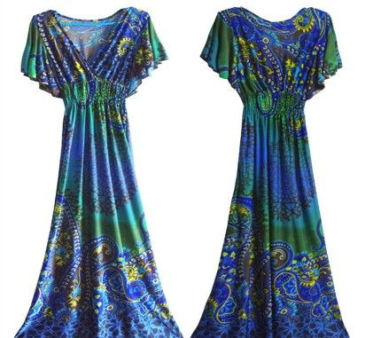 Breezy Maxi Dress-blue - Xcel Couture