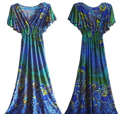 Breezy Maxi Dress-blue - Xcel Couture