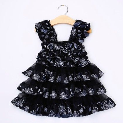 Black Ruffled Dress - Little Dress Up