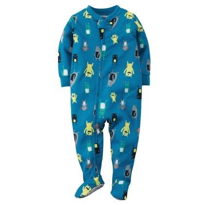 1-piece Snug Fit Cotton Pjs - Blue - Carter's