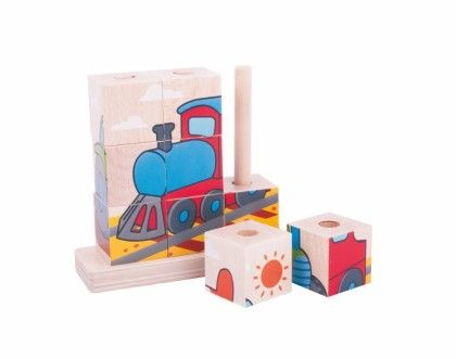 Stacking Blocks - Transport - Big Jig Toys
