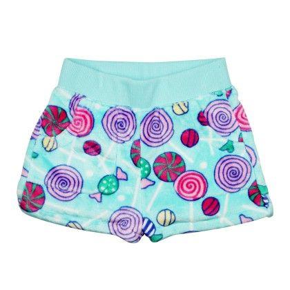 Lollipop Fleece Boxer Short-multi - Candy Pink